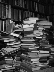 books in a stack (a stack of books)